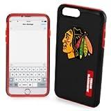 Forever Collectibles Chicago Blackhawks Impact TPU 2teilige Dual Hybrid iPhone 8Plus/iPhone 7Plus/iPhone 6Plus/6S Plus–14cm Bildschirm nur