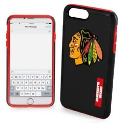 Forever Collectibles Chicago Blackhawks Impact TPU 2 teilige Dual Hybrid iPhone 8 Plus/iPhone 7 Plus/iPhone 6 Plus/6S Plus - 14 cm Bildschirm nur -