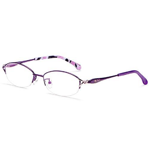 SYTH Read Optics Halbrand Lesebrille für Damen,kratzfesten UV-Schutz Gläsern Anti-Blu-ray-Computerbrille