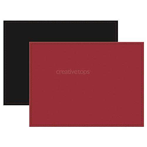 Creative Tops Platzdeckchen aus Kunstleder, wendbar, rot & schwarz (Holz Einschließlich Oberflächen,)