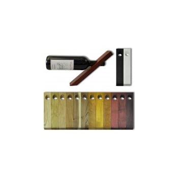 Porte-bouteille de vin en bois, magique, équilibré, Acajou teinté noir (16291)