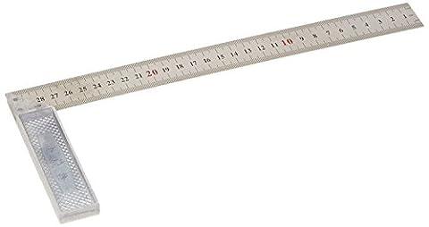 Metall 90Grad Winkel Metrisches 30cm Skala markiert Anschlagwinkel Lineal