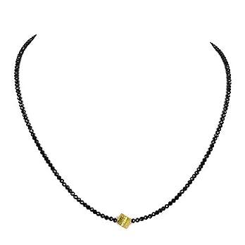 Spinell schwarz Kette Halskette