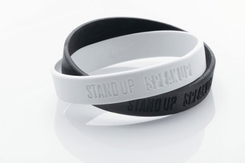 Nike Stand up Speak up Armband Schwarz-Weiss (Grösse: Kinder/Children/Youth)