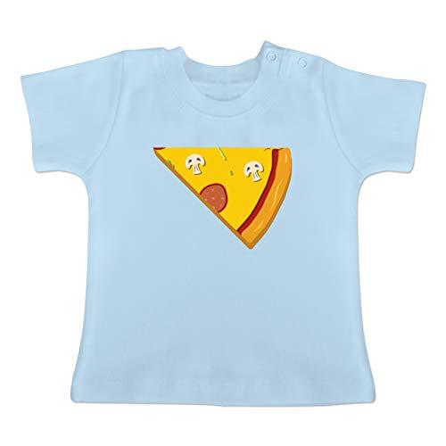 Partner-Look Familie Baby - Pizza Partner Teil 2-12-18 Monate - Babyblau - BZ02 - Baby T-Shirt Kurzarm