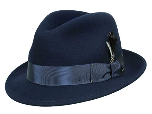 Bailey Chapeau Trilby Tino Unisex - bleu L/58-59