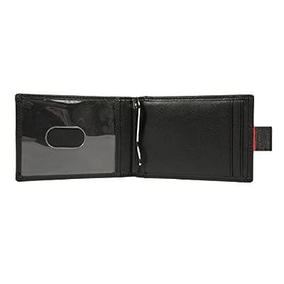 Porte-carte par Walden Co. | Portefeuille noir homme / femme en cuir pour carte bancaire et badge. Ultra-plat, avec 5 fentes carte de crédit, pince à billet / iclip, languette secrète et anti vol RFID