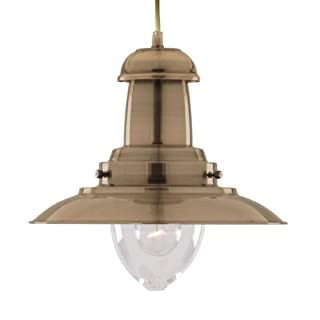 Searchlight Fisherman nautical ceiling pendant (4301AB antique brass)