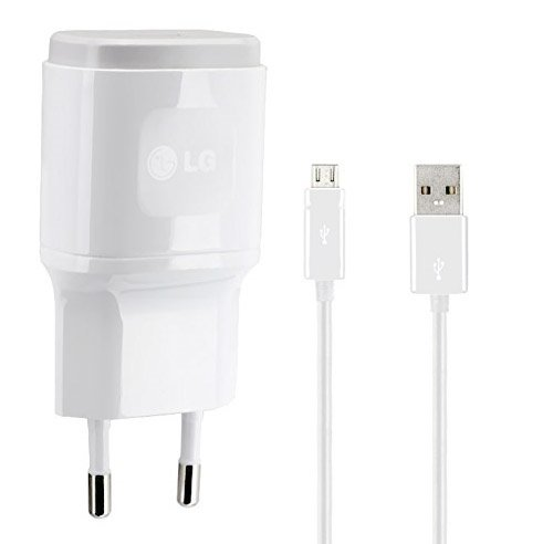 Genuine LG Blanc 1.8 Amp ( 1800 mAh ) 2 Pin EU Chargeur + Câble Micro USB Convient pour LG G4, LG G4c, LG G4 Stylet, LG G2, LG G3, LG G3s, LG G2 Mini, LG Nexus 5, LG Nexus 4 & LG G Flex in Bulk Packaging