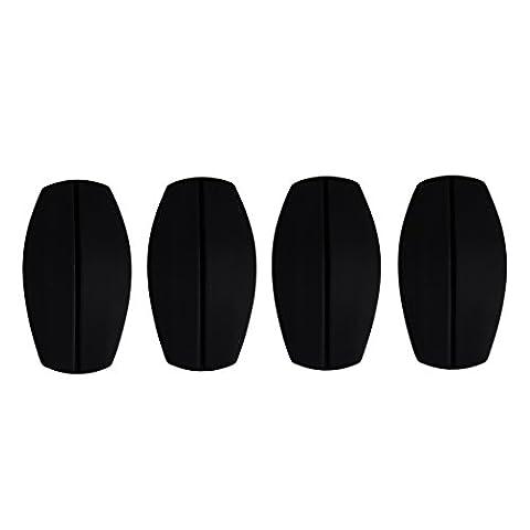 Andux 2 Paires d'épaule de soutien-gorge en silicone Invisible Impact & Soulagement de douleur épaulettes d'épaule antidérapante épaulettes NYDDJ-01 (Noir)