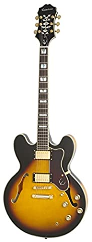 Epiphone Sheraton-II Pro Thin-Line, Semi-HollowBody Electric Guitar with Coil Tapping, Vintage Sunburst Finish, Maple