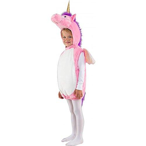 Amakando Unicorn Kinderkostüm Weste mit Kapuze Fantasy Faschingskostüm Kleinkind Kapuzenweste Fabelwesen Karnevalskostüm Fabeltier Einhorn Kostüm Kind