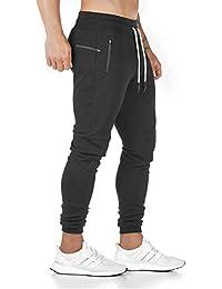Yageshark - Pantalones de deporte para hombre, de algodón, ajustados