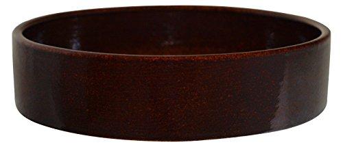 K&K Kleintier Futterschale vollglasiert 800 ml braun 20x6 cm aus schwerer Steinzeug-Keramik