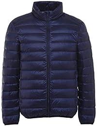 JJHOME-Doudounes Veste en Duvet pour Hommes Poids léger Manteau Chaud pour  Homme Automne Hiver Fermeture éclair Grande… 54635d2afcc