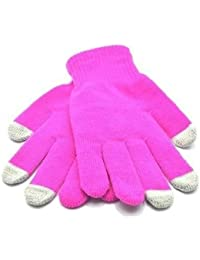 Unisex Pink Touch Screen Warm Gloves for for iPhone 4, 4s, iPad, ipad 2 Blackberry, Samsung, HTC and other smartphones, PDA's & Sat navs, Large Size by King of Flash