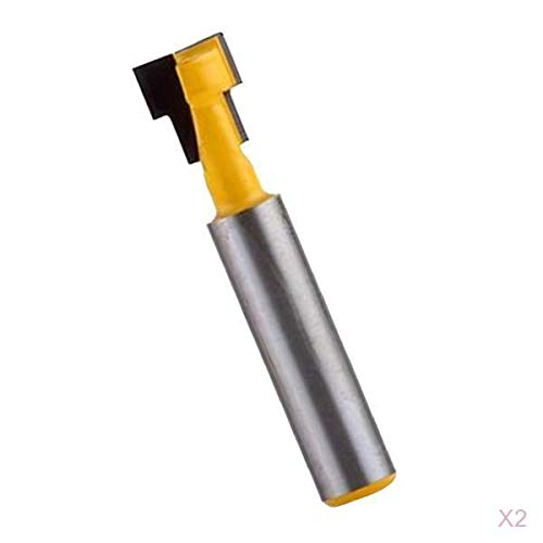 F Fityle 2 Stücke Fräser Schaft Cutter Router Bit Nutfräser Schaftfräser Holzbearbeitungsschneider, Spezielle für 1/4 Zoll Sechskantschraube, 8 mm Schaft (Bits Router Spezielle)