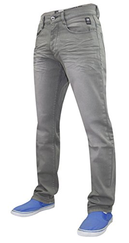 Neue Mens Designer Schraffur Twill Jeans dehnbar Slim Fit Jeans Hose Grey
