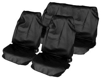 Streetwize HDWS Schutz für Autositze aus Nylon, 2 für vorne/1 für hinten, robust, in Reißverschlusstasche, Schwarz (Hinten Reißverschlusstasche)