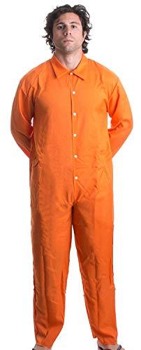 Overall | Orange Prison Inmate Halloween Kostüm Unisex Jail Criminal, XXL ()