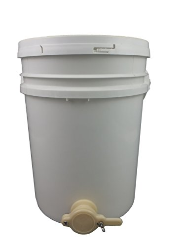Seau plastique/Pot de remplissage avec robinet et Couvercle, Miel récolte Pipette de remplissage apiformes, Miel, essorer, Sept
