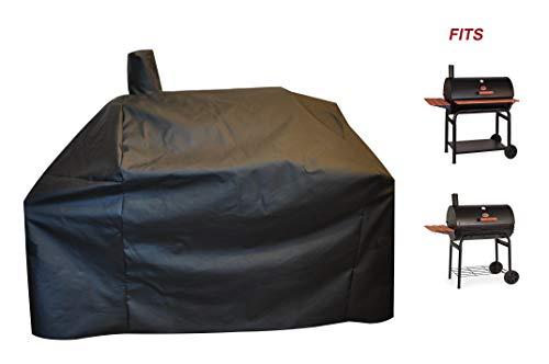 acoveritt a1COVER-Grill-Abdeckung für Char Griller Smoker 2823, 2123 600D, strapazierfähiges Segeltuch, wasserfest, wetterfest, Offset Charcoal Smoker Cover G21616 -