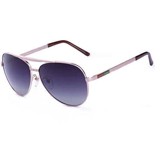 Carfia Premium Aviator Brille Pilotenbrille UV400 Polarisiert Sonnenbrille mit Etui und Putztuch für Fahren Angeln Skifahren Reisen Wandern Bootfahren und Freizeit - Ideal für Damen und Herren