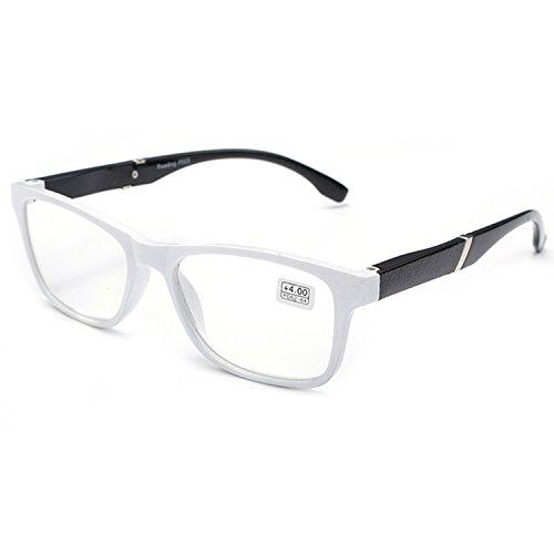 VEVESMUNDO Lesebrille Damen Herren Halbrahmen Federscharnier Vintage Halbbrille Lesehilfe Sehhilfen Brillen mit Stärke 1.0 1.5 2.0 2.5 3.0 3.5 4.0 (Weiß, 2.5)
