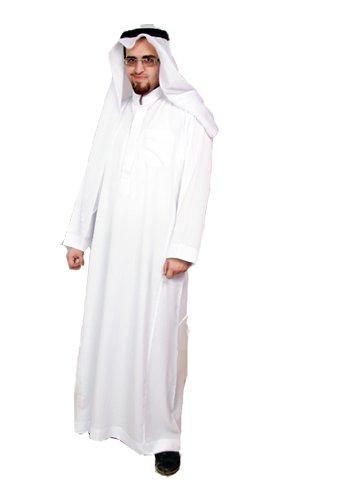 Dreiteiliges Araber Scheich Kostüm Scheichkostüm, Karnevalskostüm - Faschingskostüm- Größe: 6XL , (Scheich Kostüm Saudi)