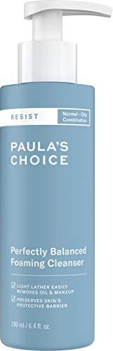 Paula's Choice RESIST Perfectly Balanced Foaming Cleanser | Hyaluronic Acid & Aloe | Anti-Aging Face Wash | Large Pores & Oi