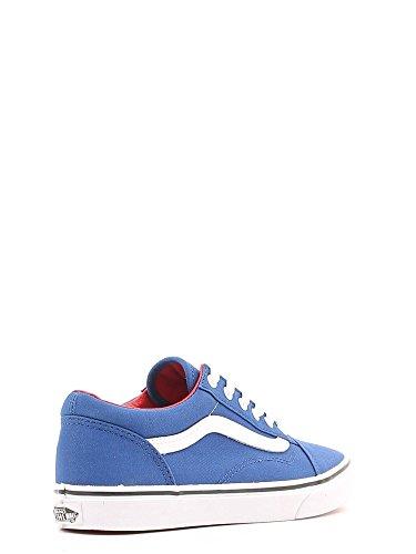 Vans K Old Skool Vw9Tnwd, Baskets mode mixte enfant Bleu (Canvas/True Bleue/Racing Red)