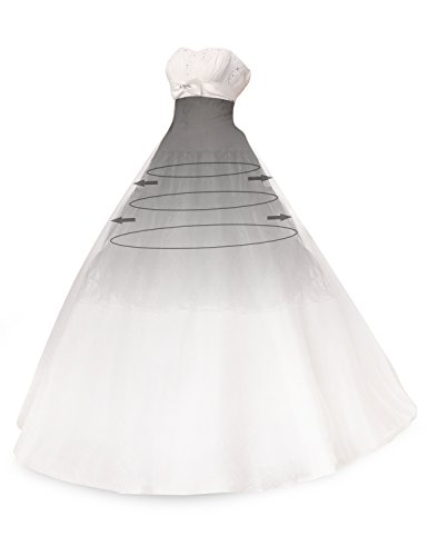 MinYuocom Frauen 50s Stil Petticoat Röcke Tutu Crinoline Weinlese Unterrock MZF4707 Schwarz
