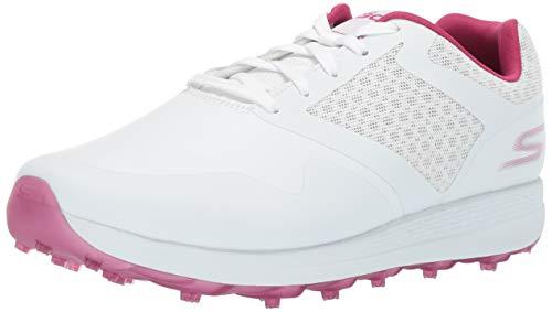 Frauen-golf-schuhe (Skechers Frauen Max-Fade Low & Mid Tops Schnuersenkel Golf Schuhe Weiss Groesse 6 US /37 EU)