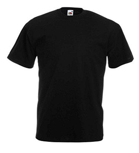 Fruit of the Loom Herren T-Shirt im 5er Pack Größe L Farbe Schwarz (Jordan 5 Shirt)