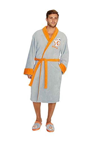 Star Wars Offiziell lizenzierte Herren BB-8 Erwachsene bestickte Fleece Bademantel Kleid (Clothing Bb Womens)