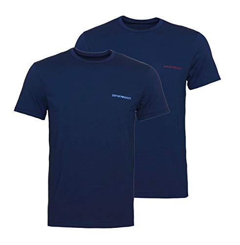 Armani T-shirts (Emporio Armani 2er Pack T-Shirts Rundhals 111267 8A717 27435 Marine/Marine SH18-EAT1 Größe XL XL Marine/Marine)