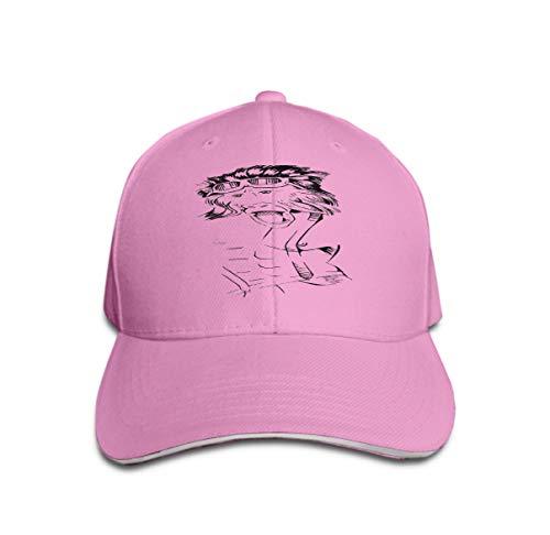 Adjustable Hat Baseball Flat Bottom Cap Aggressive Gorilla Electric Elements Pink