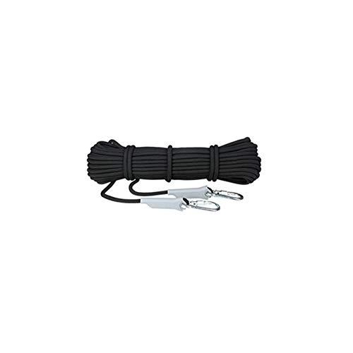 LYRAL Professionelles Kletterseil Outdoor Wandern Zubehör Seil 6/8/9,5/12 mm Durchmesser hohe Festigkeit Seil Sicherheitsseil, Schwarz/D12mm, 30m/98.4ft