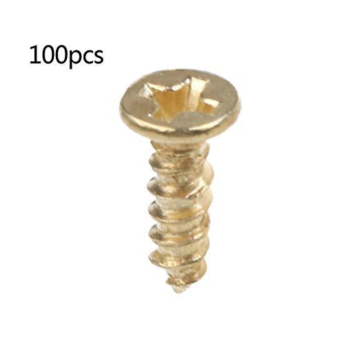 BIlinli 100 STÜCKE Gold Kleine D-Ring Bild Aufhänger mit Schrauben Rahmen Dreieck Ring Kleiderbügel (Kleine D-ring)