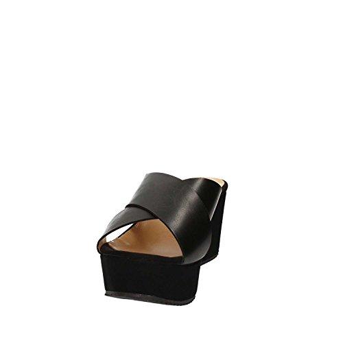 GRACE SHOES 9833 Sandales Compensées Femmes Noir