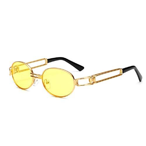 jgashf Polarisiert Runde Retro Brille, Steam punk Style Sonnenbrillen Rock Shades Runde Metall Kreis Sonnenbrille für Frauen und Männer (E)