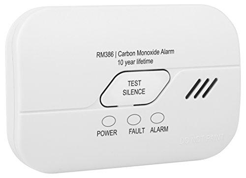 Smartwares 10 Jahres Co Melder/Kohlenmonoxid-Warnmelder, batteriebetrieben, RM386