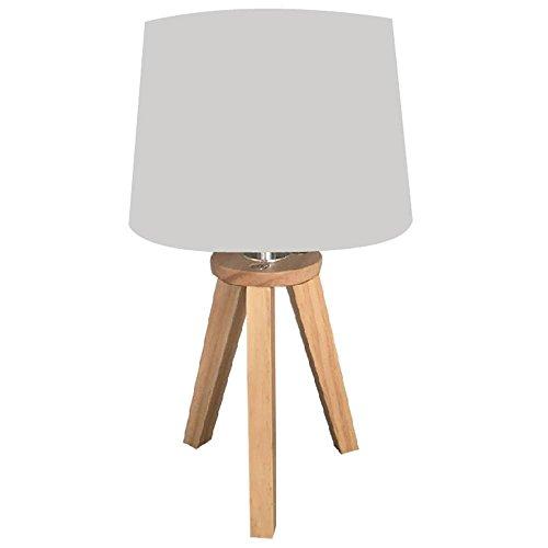 marque Atmosphera, créateur d'intérieur Lampe scandinave 3 Pieds en Bois Gris