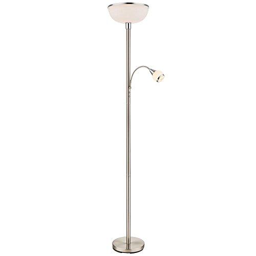 Decken Fluter Lese Leuchte Lampe Beleuchtung Glas satiniert beweglich globo 58932 - Glas-schirm-decken-beleuchtung