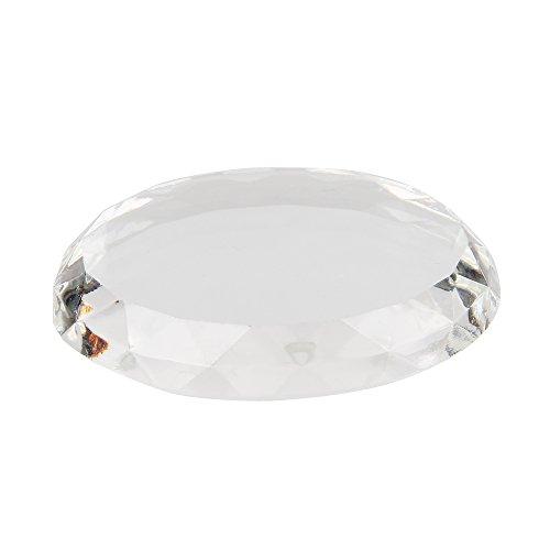 Beauty7 Pierre de Jade Pour Porte Colle Extension de Cils Support Adhésive Titulaire Rond Pad (Crystal transparent)
