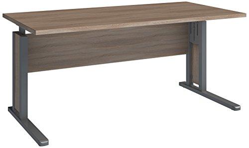 Wellemöbel, JOBexpress, Schreibtisch 160 cm x 80 cm 72002635, Wildeiche
