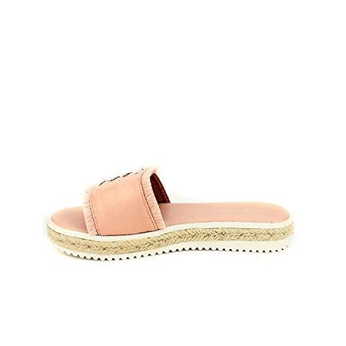 Donna Rosa Tela Scarpa Sandali Cinks Di Scarpe Cendriyon Rw1q7Yx