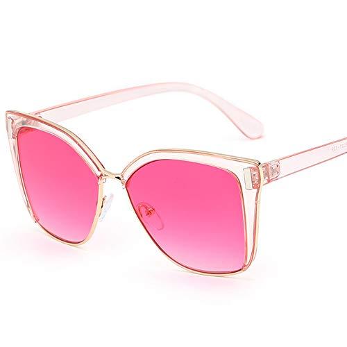 LIUYIAO Sonnenbrillen Damenmode Sonnenbrillen Square Street UV-Schutz Small Face Sonnenbrillen,Rose