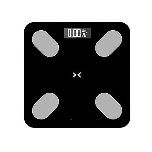 Intelligente Échelle électronique Charge APP Bluetooth Échelle de graisse corporelle mesure Les données voix Diffuser Échelle de santé haute définition Vision nocturne Afficher,A