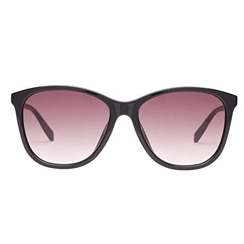 Le Specs Entitlement Black Cat Eye Sunglasses Einheitsgroesse Schwarz